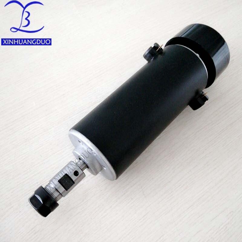 500W DC spindle motor ER11 3 175mm ER16 8MM collet 52mm diameter 110VDC CNC Carving Milling