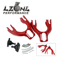 LZONE Adjustable (L&R) Front Upper Control Arm Camber Kit For HONDA CIVIC EG 92 95 RED FRONT UPPER CAMBER ARM KIT JR9872R