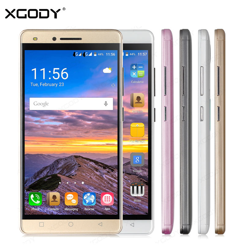 XGODY 5 pulgadas Smartphone Android 5.1 Quad Core 512 MB + 8 GB 5MP Cámara de Do
