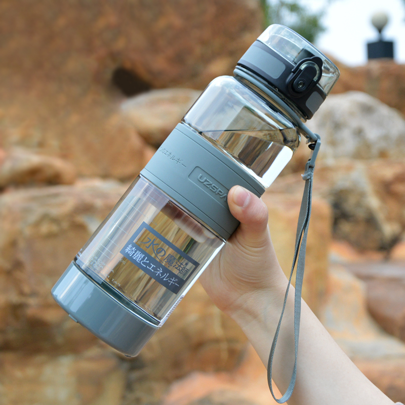 UZSPACE 1000ml Water Bottles Portable Leakproof Sports Hiking Tea My Drink Bottle Large Capacity Eco friendly Kettle With filter-in Water Bottles from Home & Garden on AliExpress
