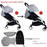 3 pièces/ensemble housse de poussette et coussin Oxfords poche arrière zippée bébé poussette accessoires pour poussette Babyzen yoyo Yoya Babytime