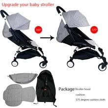 3Pcs/set Stroller Cover And Cushion Oxfords Back Zipper Pocket Baby Stroller Accessories For Babyzen yoyo Yoya Babytime Stroller недорого