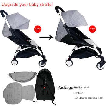 3Pcs/set Stroller Cover And Cushion Oxfords Back Zipper Pocket Baby Stroller Accessories For Babyzen yoyo Yoya Babytime Stroller - Category 🛒 Mother & Kids