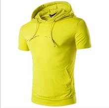 ZOGAA 2017 Men Summer Sleeveless Solid Hoodies Fitness Fashion Casual Hooded Sweatshirts Bodybuilding Brand Sportswear