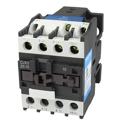 660V 40A 3 Phase 3P NO AC Contactor DIN Rail Mount 36V Coil CJX2-2510 35mm din rail mounted 3p 1no 380v coil 25a ac contactor cjx2 2510