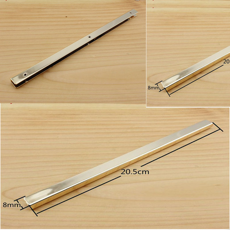 8 inch (20cm ) straight Purse edging Wallet frame wallet edging Metal Edging strip light gold 4 inch 6 inch straight cup diamond grinding wheel for glass edger straight line double edging beveling machine m009