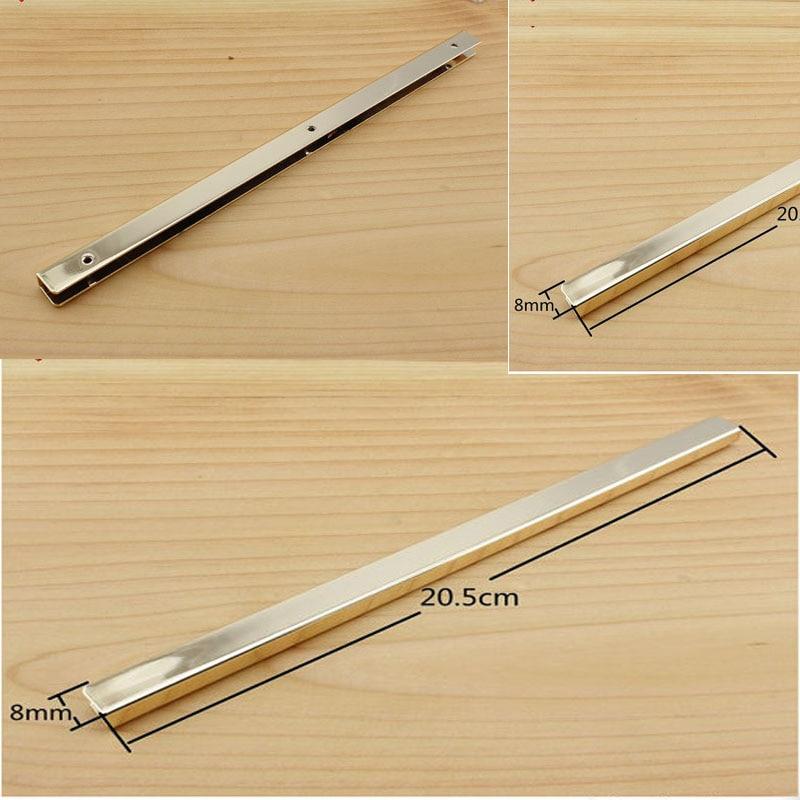 8 inch (20cm ) straight Purse edging Wallet frame wallet edging Metal Edging strip light gold