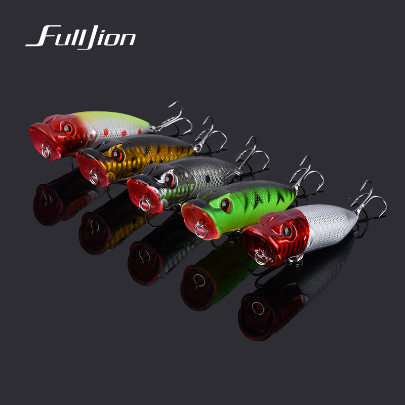 Fishing Lures Big Hard Lure Popper Wobblers Fishing Tackle 3D Eyes ABS Bait Crankbait Isca With Hooks 10 Colors 1PCS new 12pcs 7 5cm 5 6g fishing lure minnow hard bait sea fishing tackle crankbait fishing kit jig wobbler lures bait with hooks