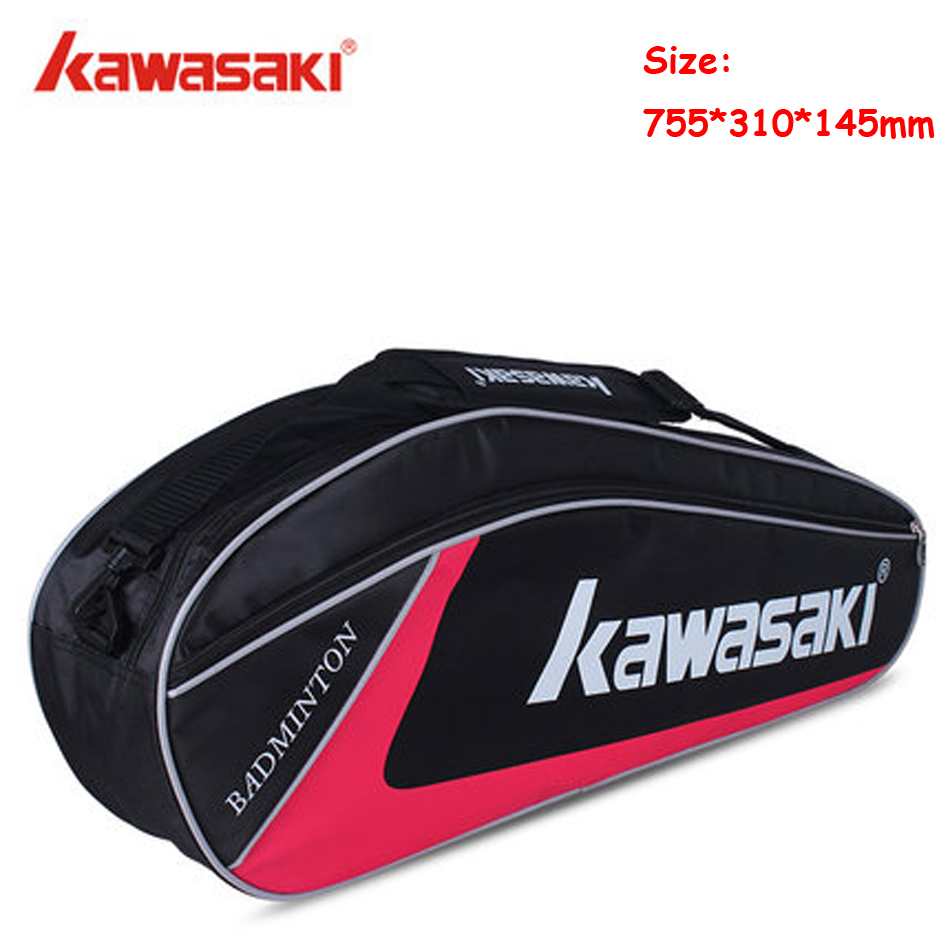 The Cheapest Price Tennis Racket Bag Kawasaki Single Shoulder Bag Tennis Badminton Squash Bag 3 Rackets Kawasaki Badminton Bag Raquete Tenis Pack Buy One Get One Free Shoes