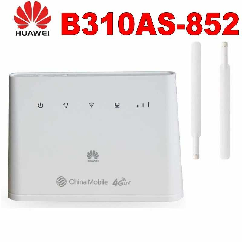 Huawei b310as-852 4G Lte Router B310 Lan coche Hotspot 150Mbps 4G LTE CPE ROUTER WIFI módem con 2 uds antenas