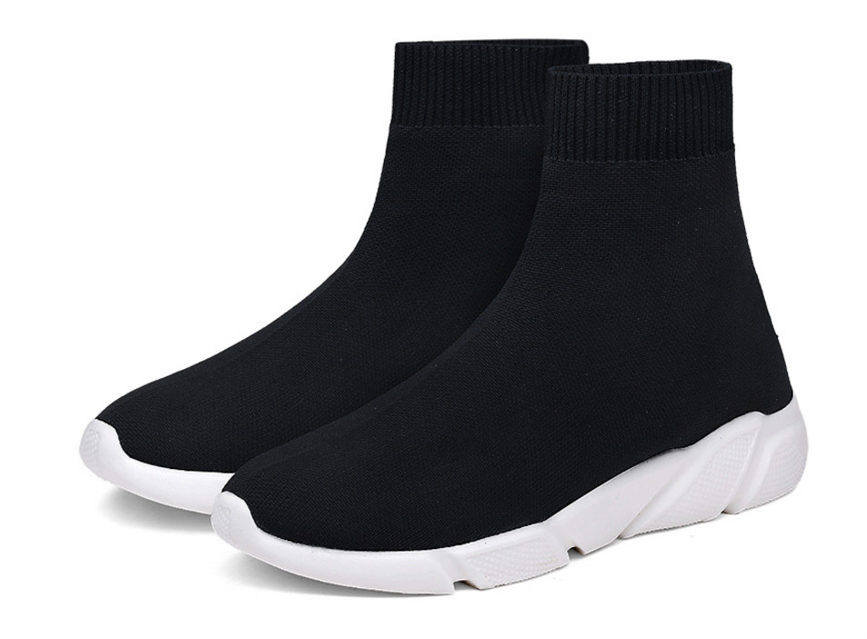 2019 Hot Sweetheart Casua Shoes Women Men Knit Upper Breathable Sport Shoes Sock Boots Woman Chunky Shoes High Top Running Shoes
