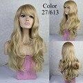 Новое поступление мода красивые длинные волнистые женские парики горячая распродажа синтетическое волокно полный парики волосы 160 град. высокой устойчивостью
