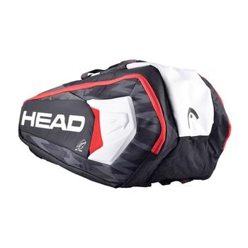 Head Tennis Bag Large Capacity Badminton Backpack Squash Sports Raquete De Tennis With Shoe Bag Can Hold 6-9 Rackets Men Big Bag