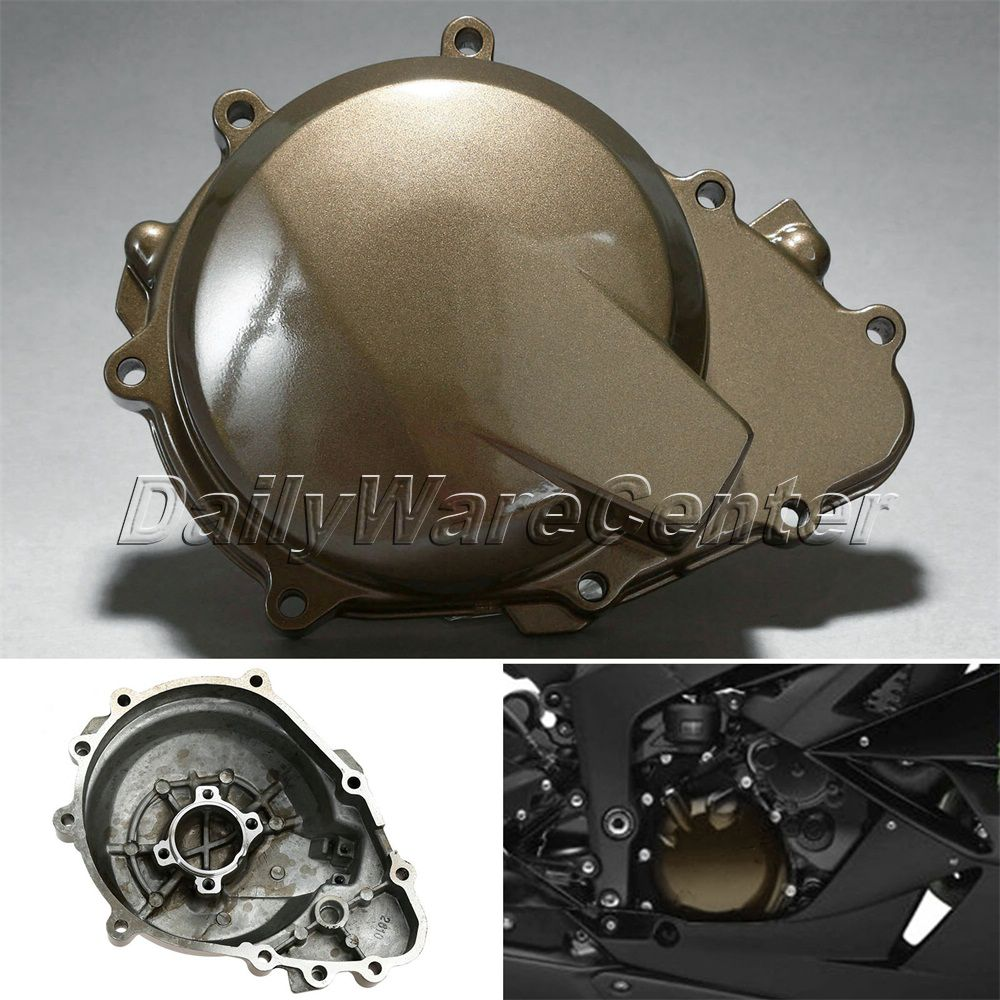 1Pc Aluminium Motorcycle Left Engine Stator Crank Case Cover Crankcase For Kawasaki Ninja ZX6R ZX636 2005 2006 Bronze Motorbike in Covers Ornamental Mouldings from Automobiles Motorcycles