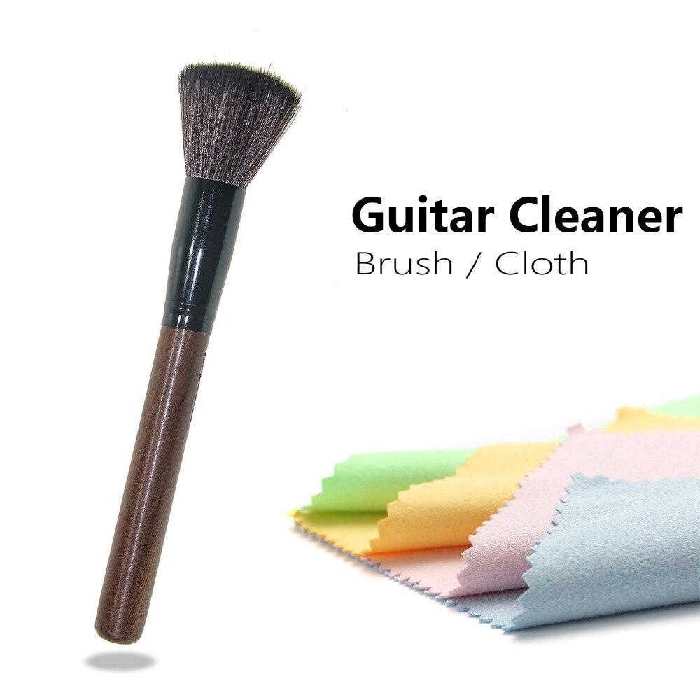 Limpiador De Guitarra Barroco Ukelele Bajo Violín Banjo Fretboard Kit De Paño De Limpieza De Polvo FáCil Y Simple De Manejar
