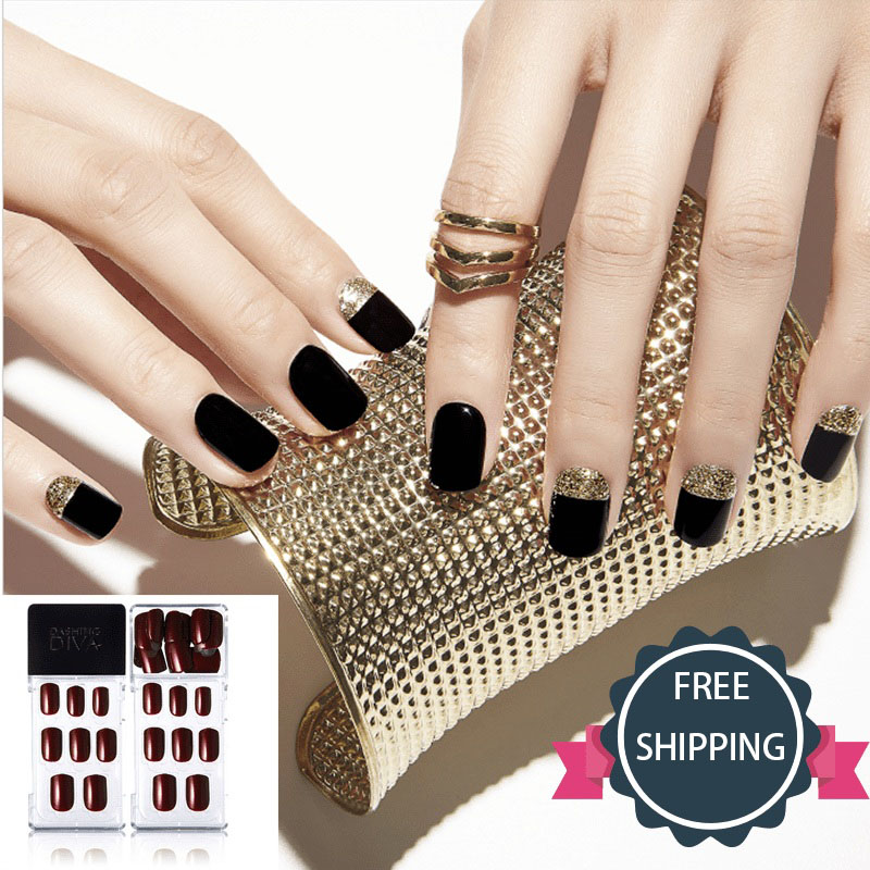 women Manicure stickers fake nails waterproof durable non toxic ...