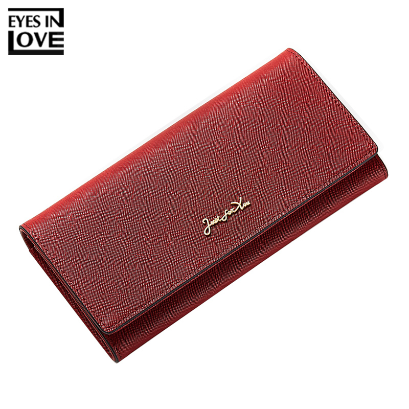 EYES IN LOVE New Style Leather Ladies Clutch Women Wallet Female Purses Big Capacity Card Holder Bag Phone Pocket Woman Wallet kenneth cole new york womens leather clutch wallet w iphone smart phone pocket