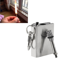 Useful Emergency Fire Starter Flint Match Lighter Metal Outdoor Camping Hiking Instant Survival Tool Safety Durable accessory
