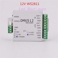 Оптовая 1 шт. DC12V WS2811 rgb контроллер dmx512 декодер для DC12V ws2811IC 2811 сид DMX512 RGB led контроллер