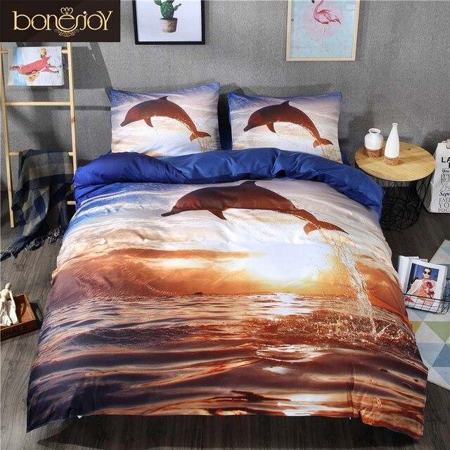 Merveilleux Bonenjoy 3D Bedding Sets King Size Sea And Dolphin Print 3D Bed Sheet Duvet Covers  For