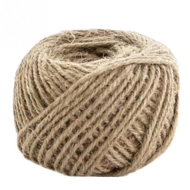 1 rollo 30 mt sackleinen cuerda natural yute saco cuerda de camo regalo de boda embalaje - Cuerda De Yute