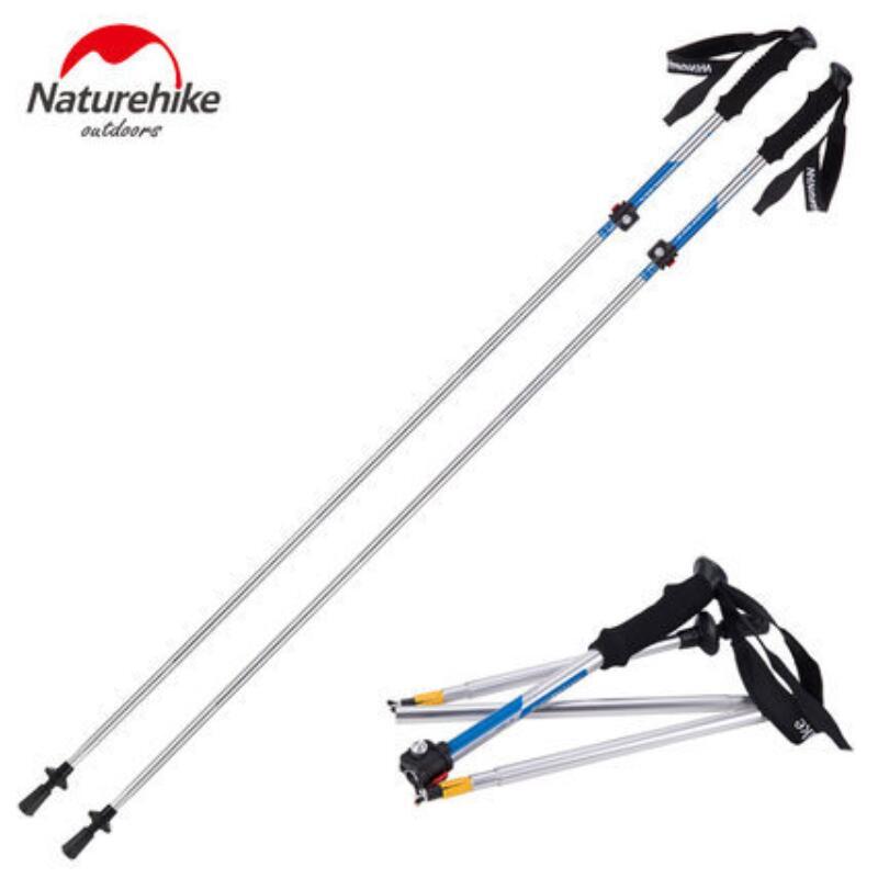 Naturetrekking 2 pièces/paire bâtons de marche nordique bâton de randonnée ultraléger bâton de marche pliant Trekking canne d'escalade NH15A023-Z - 3