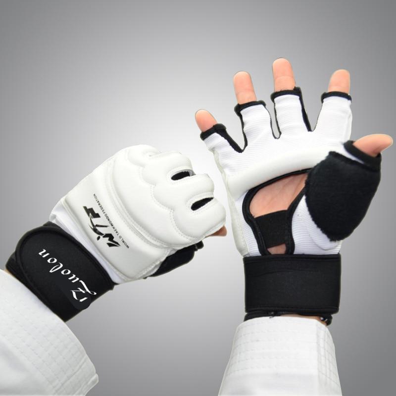 1 пара тхэквондо перчатки бои рука гвардии WTF утвержден тхэквондо спарринг передач единоборств