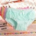 De alta calidad de las señoras del arco bragas atractivas ropa interior calzoncillos de encaje de algodón suave underwear knicker