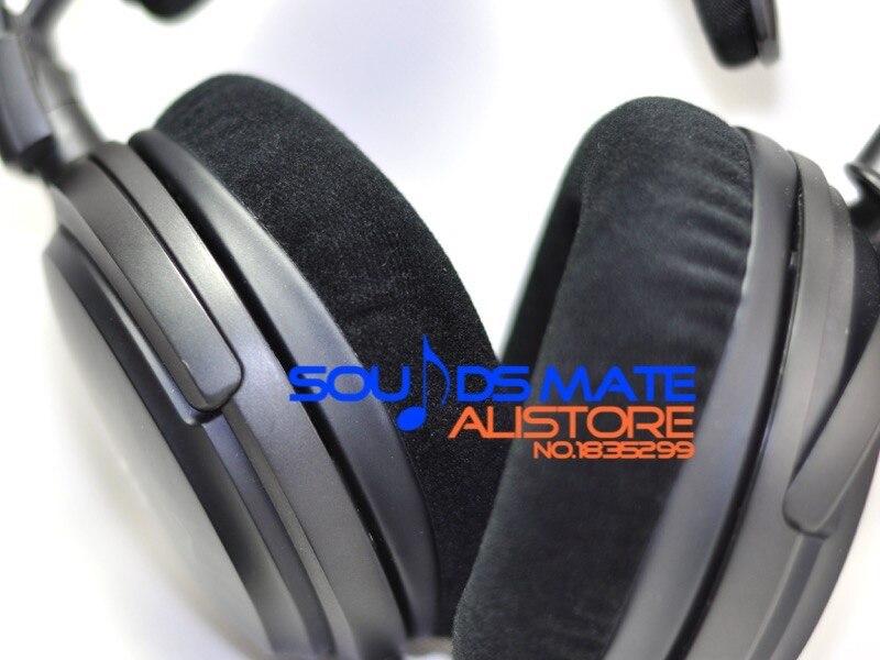 bilder für Starke Velours Ohrpolster Kissen Für Audio Technica ATH W5000 w3000 W1000 A7x L3000 HifI Kopfhörer