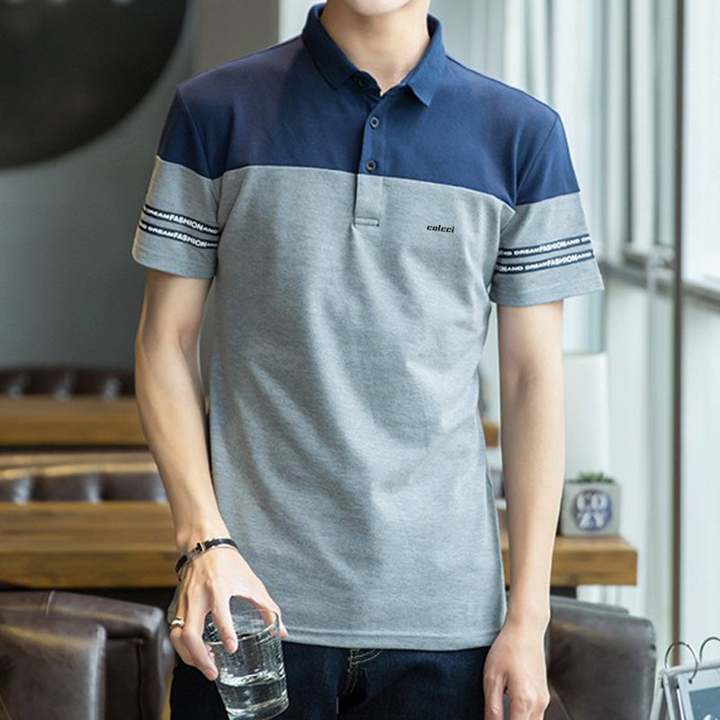 2018 Hot Brand Cotton Men   Polo   Shirts Solid Color Short Sleeve Breathable Colcci Slim Fit Men's Camisa   Polo   Aramy Shirt M-3XL