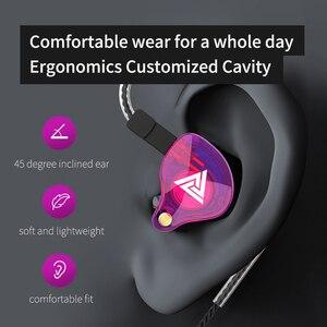 Image 5 - Original QKZ VK4 ที่มีสีสัน DD หูฟัง HIFI เบสหูฟังตัดเสียงรบกวนพร้อมไมโครโฟนเปลี่ยนสายหูฟัง
