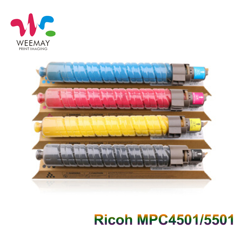 1PCS Ricoh MPC 4501 mpc5501 copier toner cartridge compatible for ricoh aficio MPC4501 MP C4501 MP C5501 original part for ricoh c4000 c5000 c3001 c3501 c4501 c5501 color toner drum
