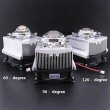 100W LED Aluminium Heat Sink Cooling Fan+60degree 90degree 120degree44mm Lens + Reflector Brack
