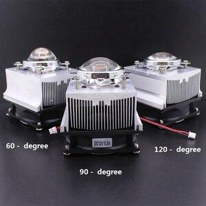 Image 1 - Disipador de calor de aluminio LED, ventilador de refrigeración de 100W + lente de 60 grados 90 grados 120degree44mm + Reflector Brack