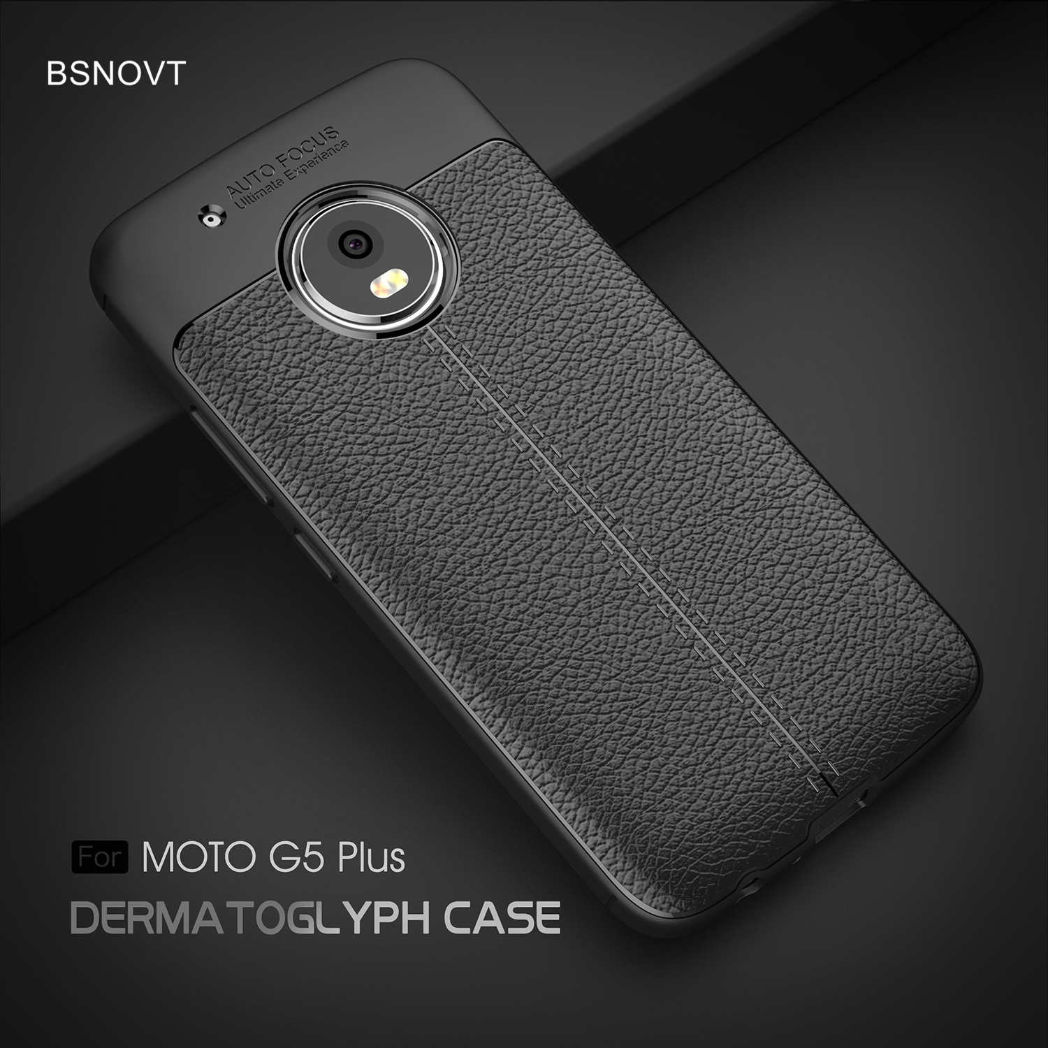 For Motorola Moto G5 Plus Case Soft Silicone Leather Anti-knock Phone Cover