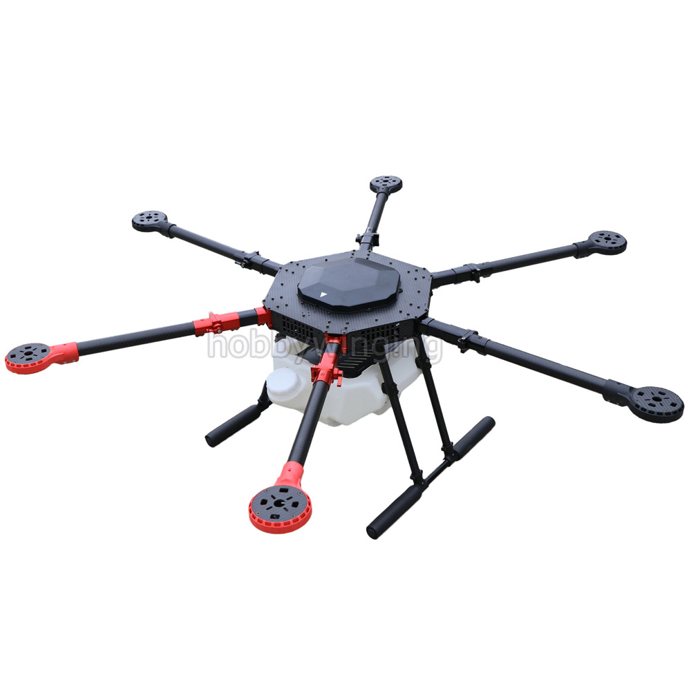 6-axis Spray pump Agriculture drone w/ 10KG/10L spraying gimbal system 1400mm Wheelbase Folding UAV Hexacopter 4 axis waterproof spray agriculture drone frame w 10l tank spraying system 1300mm wheelbase folding uav 10kg hexacopter