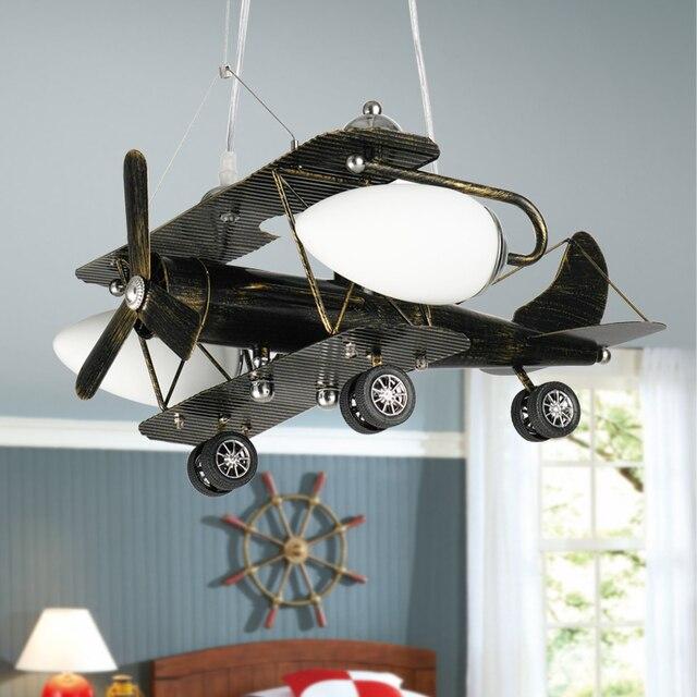 Personalit retr lampadari luci di aeromobili ragazzi camera da letto lampade led di - Lampadari per camera ragazzi ...