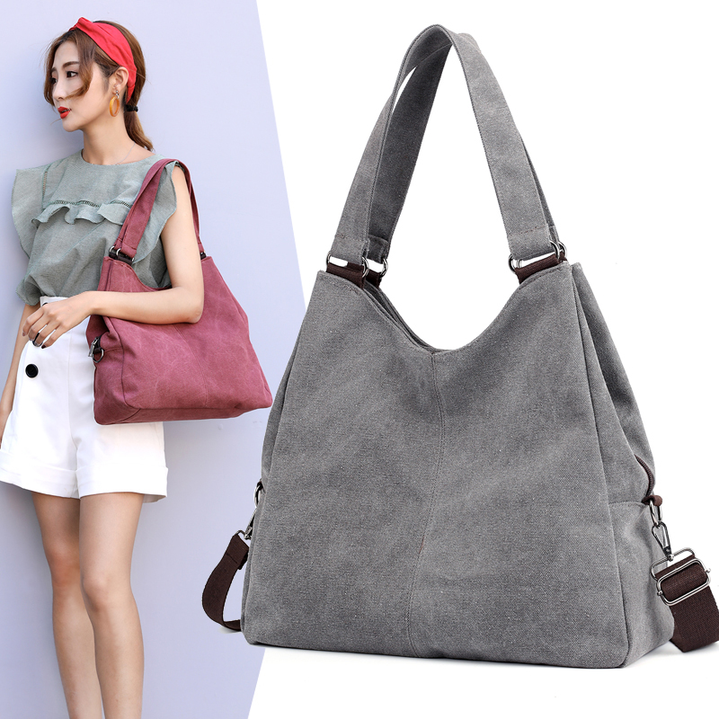 New 2020 Women Shoulder Bag Handbag Female Hobo Tote Bags Ladies Crossbody Messenger Bag High Quality Canvas Purse