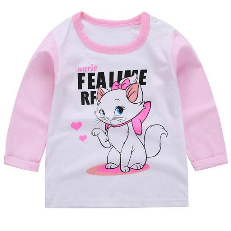 Avengers Captain America Mickey Baby Boy Clothes Birthday Shirt Cotton Tops Hello Kitty Girls Top