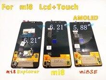 Ban đầu Cho Xiaomi 8 Màn hình AMOLED Màn Hình Mi 8 MÀN HÌNH Hiển Thị LCD Mi 8 Nhà Thám Hiểm Mi 8 SE LCD 8SE Màn hình hiển thị