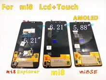 Original For xiaomi 8 display AMOLED Display Mi8 LCD Display Mi 8 Explorer Mi8 SE LCD 8SE display