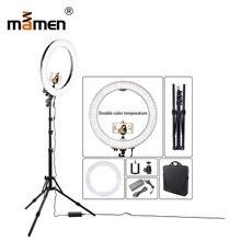 купить Mamen Dimmable LED SMD Ring Light 55W 3200K-5600K 100V-240V Ring Camera Light Photography Lighting 240pc LED Chip With Tripod по цене 8420.04 рублей
