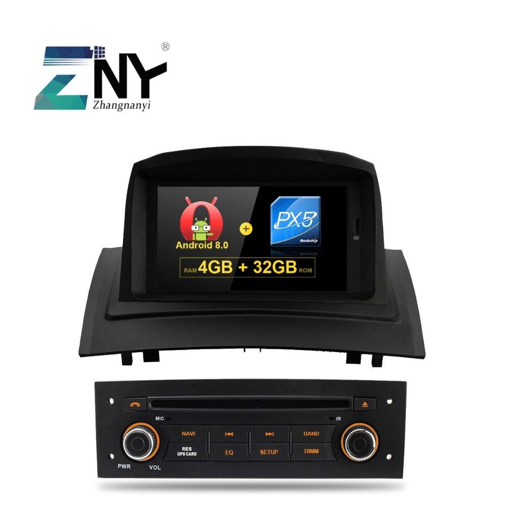 4 GB 7 IPS Android 8.0 Autoradio GPS Pour Renault Megane 2 2005 2006 2007 2008 2009 Radio FM WiFi DVD Navigation caméra de recul