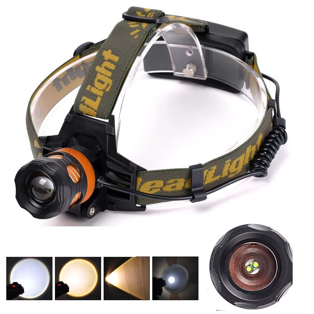 Zoomable Q5 LED White Blue/Yellow Headlamp Fishing Hunting 18650 Rechargeable HeadlampZoomable Q5 LED White Blue/Yellow Headlamp Fishing Hunting 18650 Rechargeable Headlamp