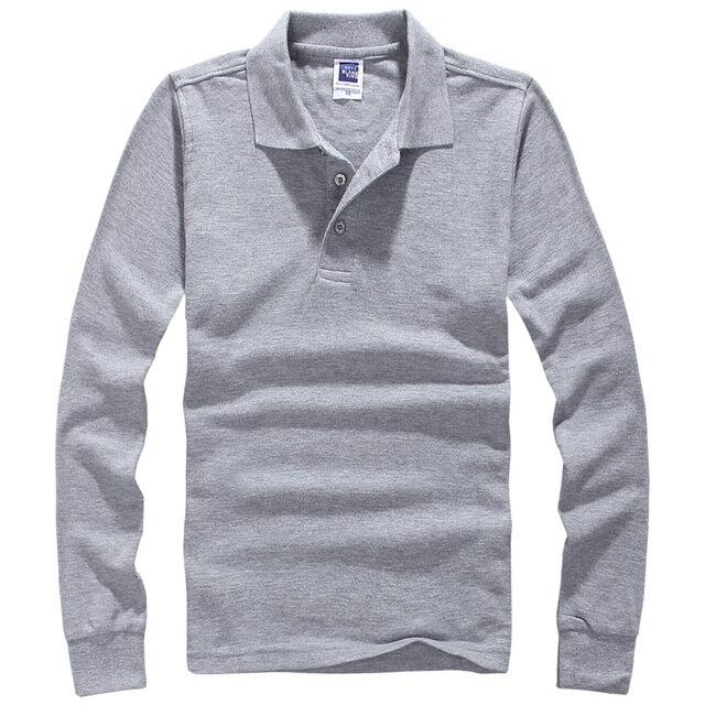Марка мужчины поло хомбре мужская мода рубашки с длинными рукавами свободного покроя Camisetas Masculinas Большой размер S-XXXL поло толстовка