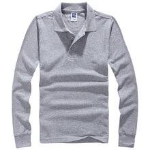 2017 Мужчины Polo Hombre Рубашки Мужская Мода Воротник рубашки С Длинным Рукавом Случайные Camisetas Masculinas Плюс Размер S-XXXL Поло Толстовка