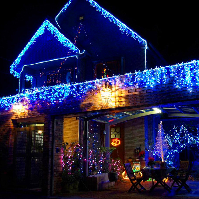 6m 256 Bulbs Curtain LED Lights Decoration Wedding Light String Christmas Garland New Year Holiday Party Decorative Lights multicolor led string strip christmas holiday wedding curtain lights 120 smd 12 glass balls 3m long 0 6 high decoration party