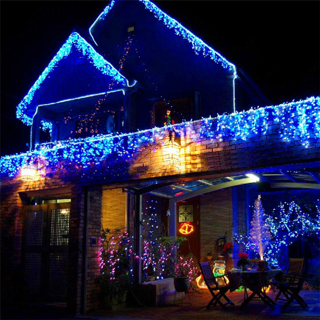 6m 256 Bulbs Curtain Led Lights Decoration Wedding Light String Christmas Garland New Year Holiday Party