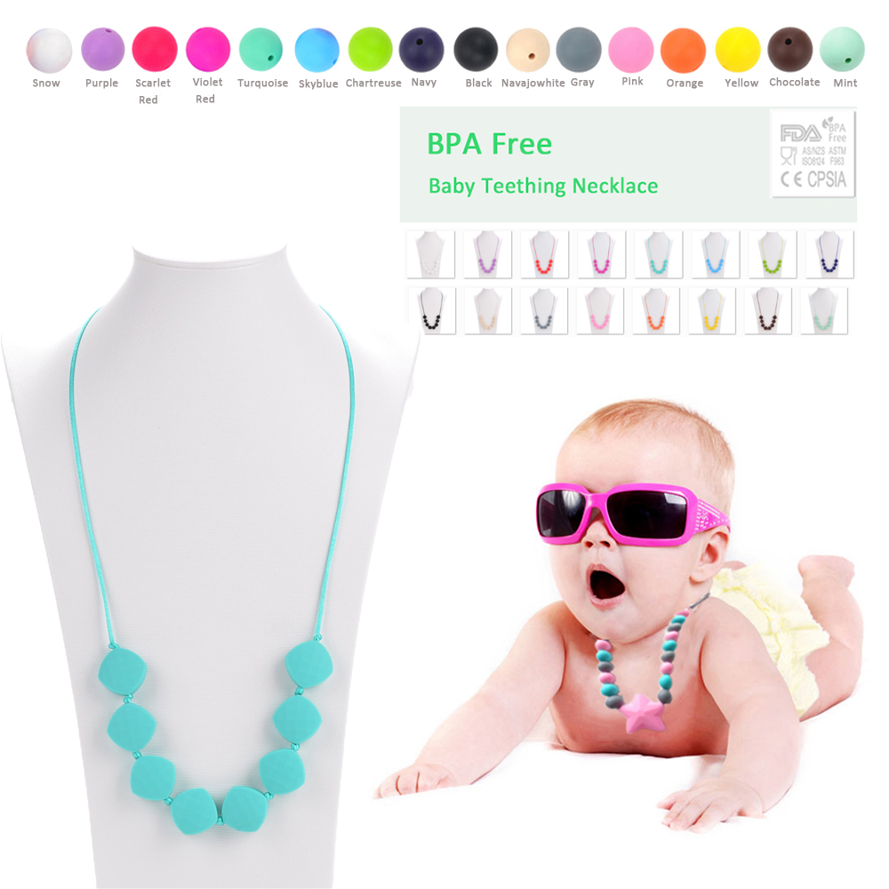Fashion Jewelry Silicone Necklace BPA Free Silicone Teething Necklace Beads  For Baby Women Soft Chew Toys-in Chain Necklaces from Jewelry   Accessories  on ... c8badb69e