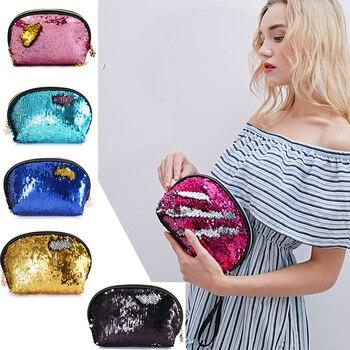 20PCS / LOT Creative Girl Coin Bag Sequin Coin Wallet Glittering Wallet Shell Coin Purse Women Handbag Wholesale